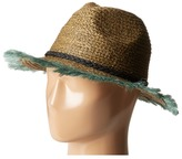 Scotch & Soda Raffia Beach Hat w/ Embroidered Artwork Caps