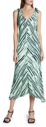 Proenza Schouler White Label Printed Georgette Sleeveless Dress
