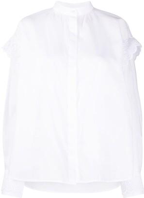 MSGM Ruffle Trim Shirt