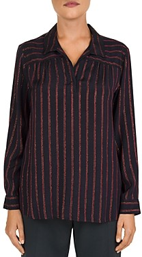 Gerard Darel Morgan Striped Metallic Threaded Shirt
