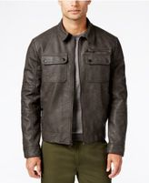 Kenneth Cole Men's Antiqued Faux-Leather Bomber Jacket