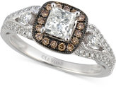 LeVian Le Vian® Bridal Diamond Engagement Ring (1-1/5 ct. t.w.) in 14k White Gold