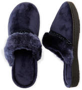 Isotoner Lillie Velour Clog Slippers