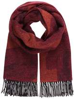 Paul Smith FLUFFY LEOPARD Scarf red