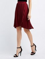 Charlotte Russe Pleated Wrap Midi Skirt