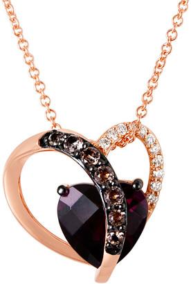 LeVian Le Vian 14K Rose Gold 2.20 Ct. Tw. Diamond & Gemstone Pendant Necklace