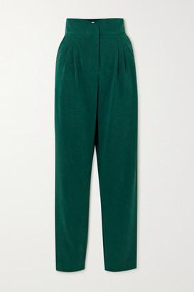 ÀCHEVAL PAMPA Gato Pleated Woven Slim-leg Pants - Green