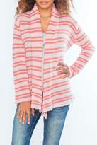 Wooden Ships Coral Stripe Cardigan