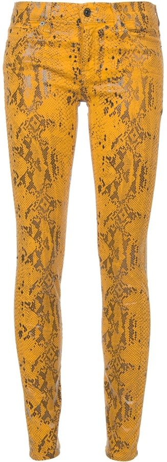 7 For All Mankind Python print jeans