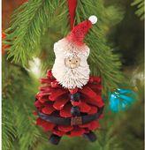 Pinecone Santa Ornament