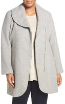 Jessica Simpson Plus Size Women's Asymmetrical Coat