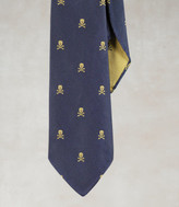Unlined Skull-and-Bones Tie