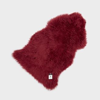Hanlin Ltd - Silky Sheepskin Rug Raspberry - Red