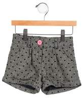 Billieblush Girls' Metallic-Accented Tweed Shorts w/ Tags
