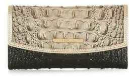Brahmin Mercury Crescent Leather Checkbook Wallet