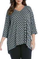 Karen Kane Plus Size Women's Contrast Back Tunic