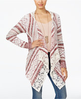 American Rag Crocheted Handkerchief-Hem Cardigan, Only at Macy's