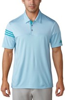 adidas Men's Regular Fit 3-Stripes Golf Polo