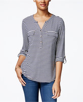 Charter Club Striped Henley Top, Only at Macy's