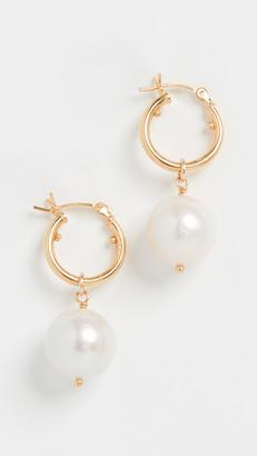 Chan Luu White Pearl Earrings