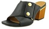 Calvin Klein Joelle Open Toe Leather Sandals.