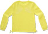 Marie Chantal GirlsAngel Wing Intarsia Sweater - Neon Yellow