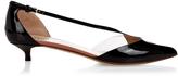 Francesco Russo Point-toe patent-leather pumps