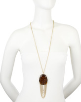 Kendra Scott Smoky Quartz-Chain Drop Necklace