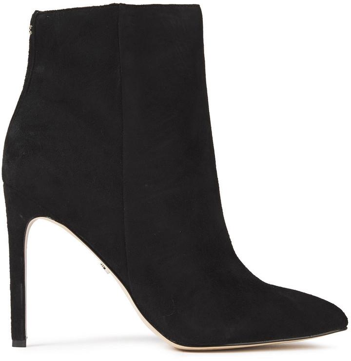 Sam Edelman Black Suede Ankle Women's