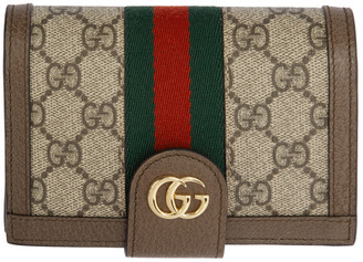 Gucci Brown GG Ophidia Passport Holder
