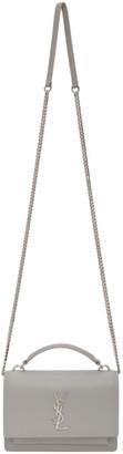 Saint Laurent Grey Sunset Chain Wallet Bag