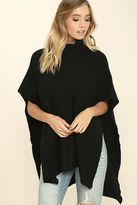 Love Stitch Morning Light Black Poncho Top