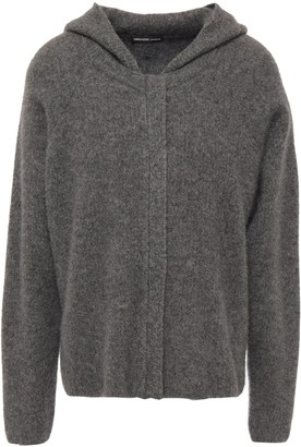 James Perse Cashmere And Silk-blend Hooded Cardigan
