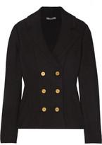 Alexander McQueen Double-breasted Wool-blend Peplum Blazer - Black