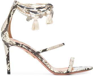 Aquazzura Sneaking Print High Heel Sandals