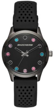 Skechers Women's Silicone Strap Watch 32.5mm