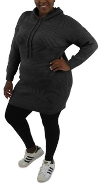 Full Circle Trends Trendy Plus Size Hooded Dress