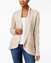 Karen Scott Shawl-Collar Pointelle Cardigan, Created for Macy's