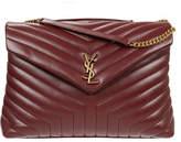Saint Laurent Loulou Monogram Large V-Flap Chain Shoulder Bag - Lt. Bronze Hardware