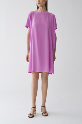 Cos Organic Cotton-Mulberry Silk Relaxed Tunic Dress
