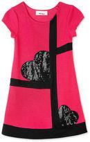 Amy Byer Girls Dress, Little Girls Hearts Ponte Dress