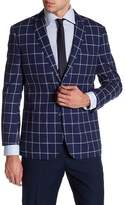 English Laundry Trim Fit Plaid Sport Coat