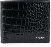 Givenchy crocodile embossed billfold wallet - men - Calf Leather - One Size