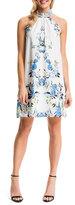 Cynthia Steffe Monte Floral-Print Halter Sheath Dress, Lily White