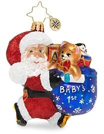 Christopher Radko Hurry Santa Gem Ornament