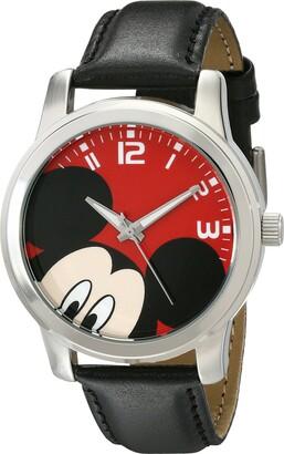 Disney Unisex W001842 Mickey Mouse Analog Display Analog Quartz Black Watch