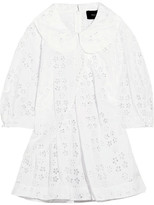 Simone Rocha Broderie Anglaise Cotton-blend Blouse - White