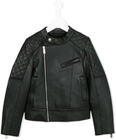 DSQUARED2 quilted detail bomber jacket - kids - Sheep Skin/Shearling/Polyamide/Spandex/Elastane/Viscose - 10 yrs