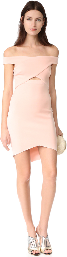 Bec & Bridge Desert of Paradise Off Shoulder Mini Dress