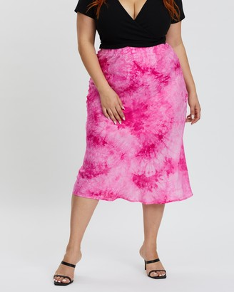 Mika Muse Indy Tie Dye Midi Skirt
